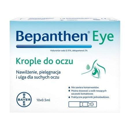 Bepanthen Eye - KROPLE, 10 x 0,5 ml.
